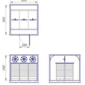 Схема камеры вяления