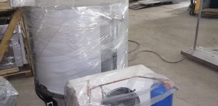 Компания «РостАгроСтрой» отгрузила оборудование по переработке молока для монтажа  и пуско-наладки цеха в поселок Актогай, Карагандинская область.