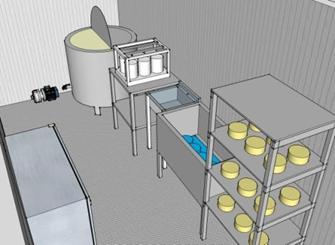 Сыроварня СР — 500. 500 кг. переработке молока в сутки с получением мягких, твердых и полутвердых сыров.