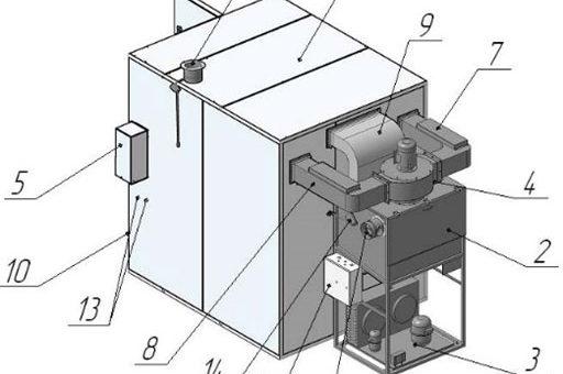 Камера для вяления и сушки рыбы, сборно-разборная, с кондиционером (модель РОСТ)