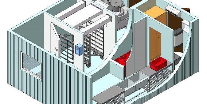 Модульный цех для сушки и копчения рыбы  (загрузка до 300 кг.) </br>Р 300 МР